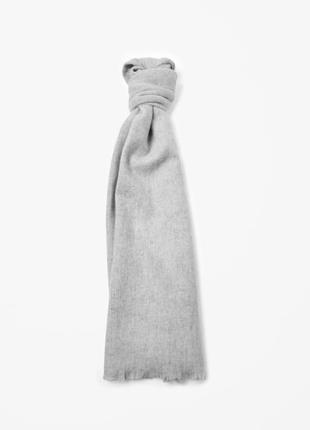 Длинный шарф (72% шерсть + 28% ангора)