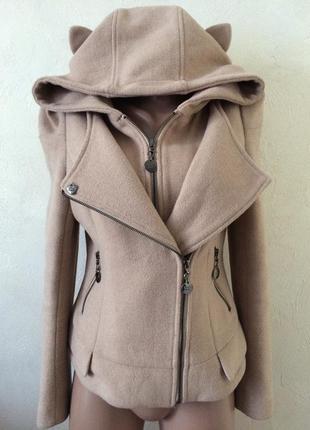Потрясающее кашемировое пальто, цвет- пудра