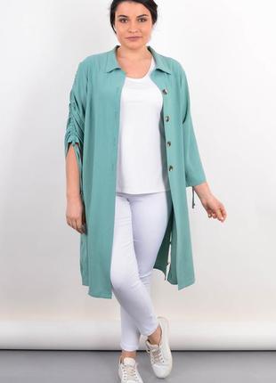 Кардиган-рубашка на лето женский plus size, жіночий кардиган батал