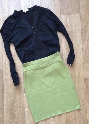 Фисташковая теплая юбочка