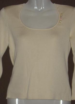 Блуза женская  бежевая с оригинальными рукавами. 40 р-р