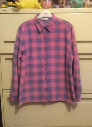 Фирменная флисовая рубашка размер м-l