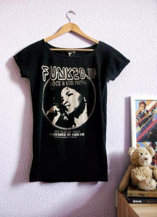 Удлиненная футболка туника с джими хендриксом