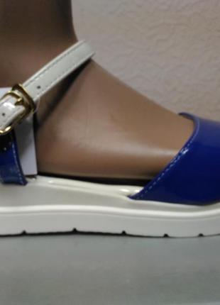 Босоножки женские на платформе синие туфли шлепки  размеры 36, 37, 38, 39, 40, 41 к-1078
