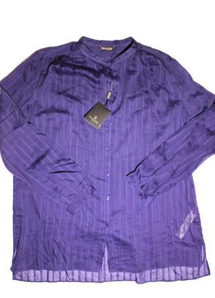 Женская блуза с воротником мао massimo dutti