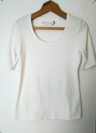 Акция!!!! базовая белая футболка, размер м-l