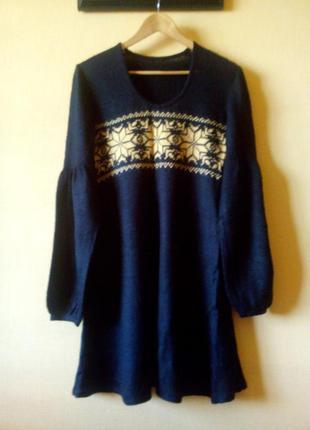 Шерстяное платье в норвежском стиле, 48р-р