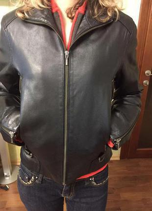 Кожанная куртка bay р-р м