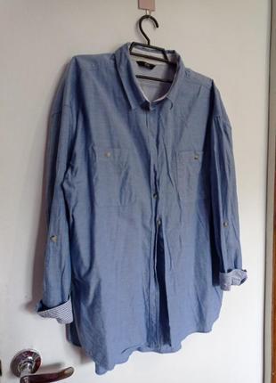 Легкая рубашка джинсовая