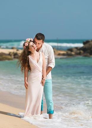 Платье в пол в греческом стиле 1+1=3