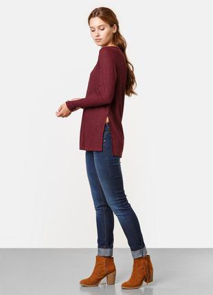 Джемпер шикарный трендового цвета марсала/бордо