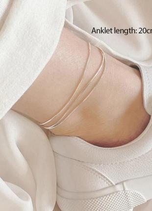 Анклет браслет на ногу серебро 925 проба