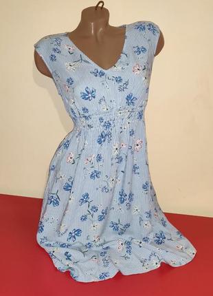 Женское коттоновое платье бренд h&m3 фото