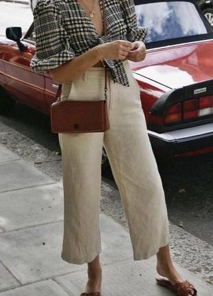 Кюлоты льняные укороченые брюки kaliko