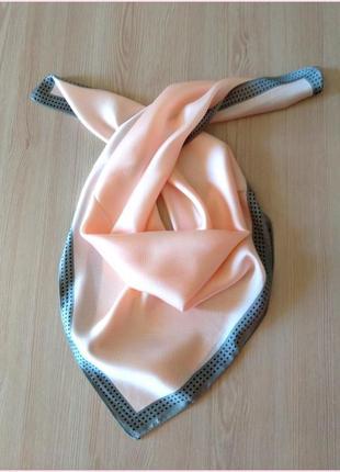"""Элегантный шелковый платок """"клетка"""" розовый"""