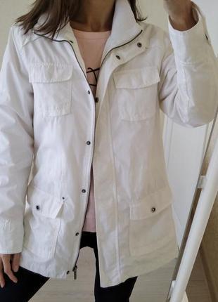 Куртка/ветровка белая коттоновая s.oliver