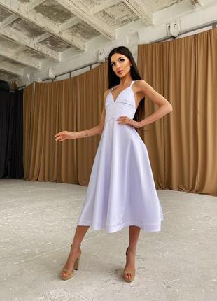 Платье-миди с корсетным верхом6 фото