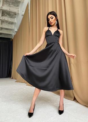 Платье-миди с корсетным верхом5 фото