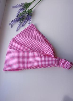 Женская косынка на резинке бандана платок
