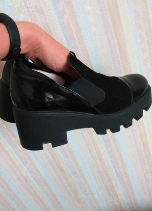 Шикарные броги ботинки кожа 37
