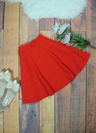Фактурная красная юбка-солнце 8285 atmosphere размер uk8/36 (s)