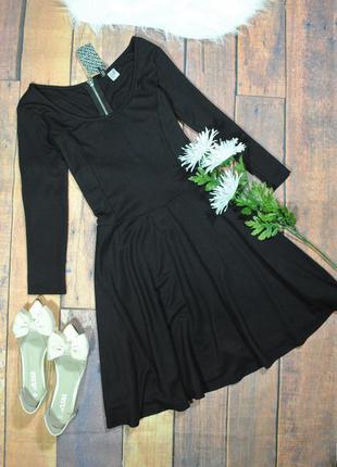 Базовое черное платье из трикотажа в8298 h&m размер uk14/40 (м/l)