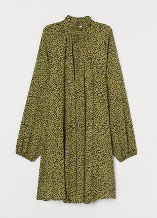 Платье балахон с воротом и длинным рукавом 8р.