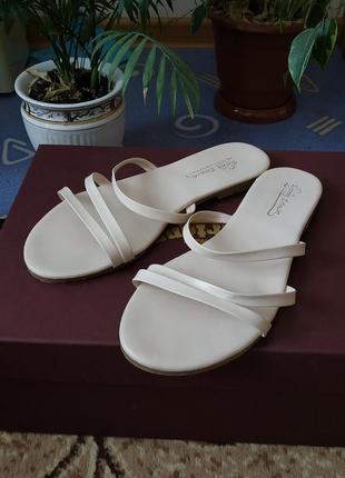 🌸босоножки сандали сандалии на плоском ходу белые бежевые молчные тонкие ремешки