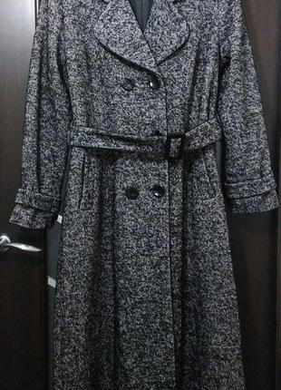 Длинное  пальто шерстяное