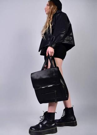 Рюкзак - сумка эко кожа 263924 black