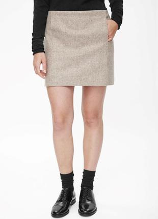 Шерстяная юбка cos 40, 42, 44