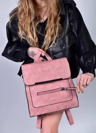 Рюкзак - сумка эко кожа 263924 pink