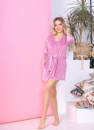 Женский домашний костюм тройка пижама тройка4 фото