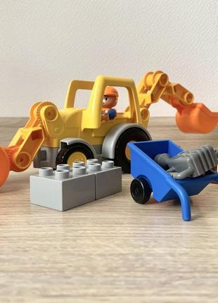 Конструктор lego эскаватор-погрузчик (10811) оригинал