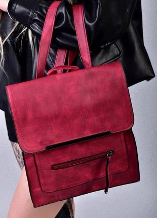 Рюкзак - сумка эко кожа 263924 bordo