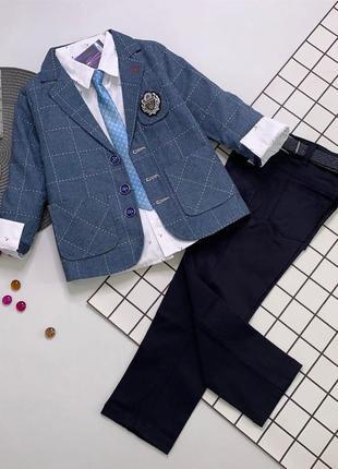 Шикарный нарядный костюм для школьника