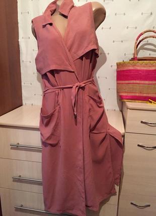Стильное платье халат под пояс