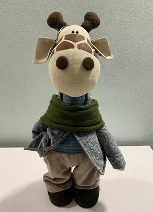 Игрушка текстильная жираф-мальчик