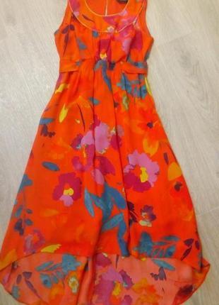 Платье асиметрия вискоза