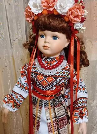 Кукла украинка фарфор