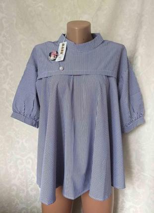 Шикарная блуза на пышные формы р. хл 50/52