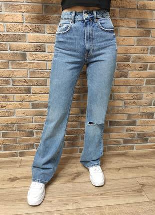 Расклешенные винтажные джинсы