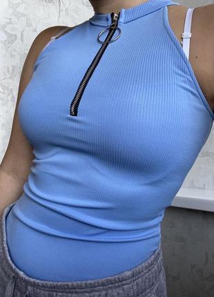 Голубое боди со змейкой1 фото