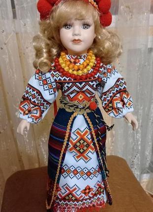 Кукла украинка, фарфор