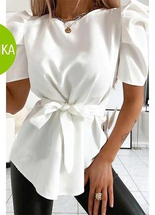 "Стильная блуза с короткими рукавами фонарик ""lady"""