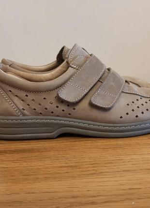 Туфли летние кожаные