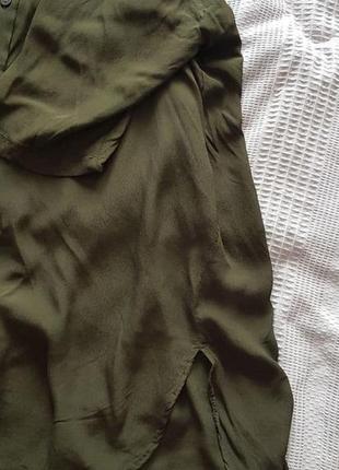 Темно-зелена легка сорочка mango5 фото