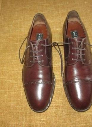 Fratelli rossetti оригинал италия кожаные туфли оксфорды bally santoni р. 41-42