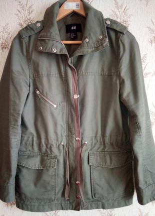 Стильная, модная куртка парка h&m .
