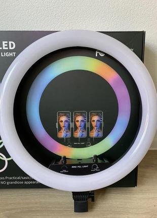 Светодиодная кольцевая лампа f1331 rgb 45 см